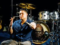 Eric Hernandez's Bruno Mars drum setup in pictures
