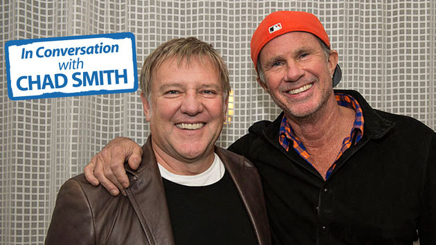 Alex Lifeson and Chad Smith, photographed at the Sunset Marquis, West Hollywood, CA, April 2013