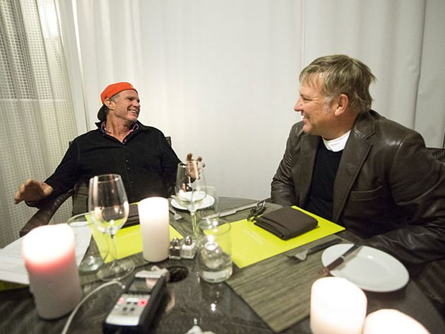 In conversation: Chad Smith with Alex Lifeson - in pictures