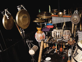 The Cirque Du Soleil's percussion setup in pictures