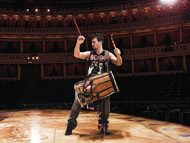 James Mack's Cirque Du Soleil Totem percussion setup in pictures