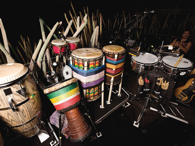 James Mack's Cirque Du Soleil percussion setup