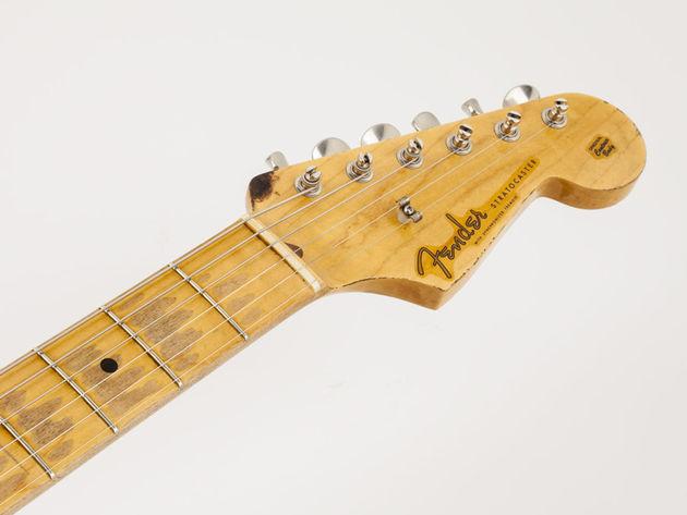 """La Fender Eric Clapton """"Brownie"""" Tribute Stratocaster - manche et tête"""