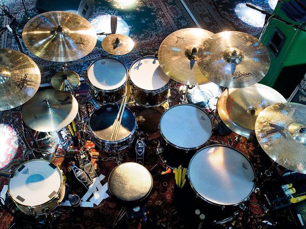 Le kit d'Abe Cunningham du groupe Deftones