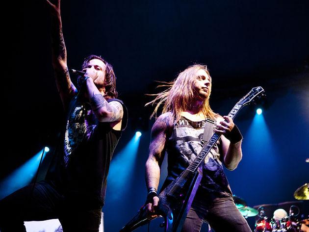 AxeWound frontman Liam Cormier and guitarist Matt Tuck