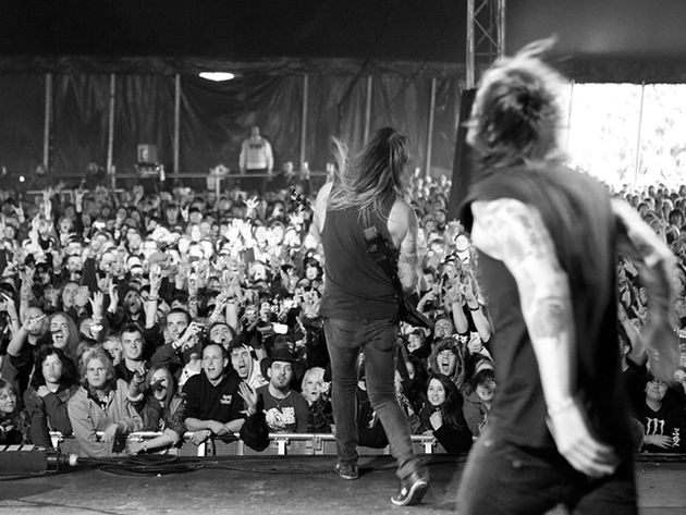 AxeWound guitarist Matt Tuck and frontman Liam Cormier