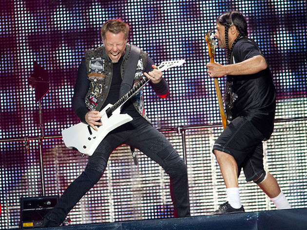 Metallica frontman James Hetfield and bassist Robert Trujillo