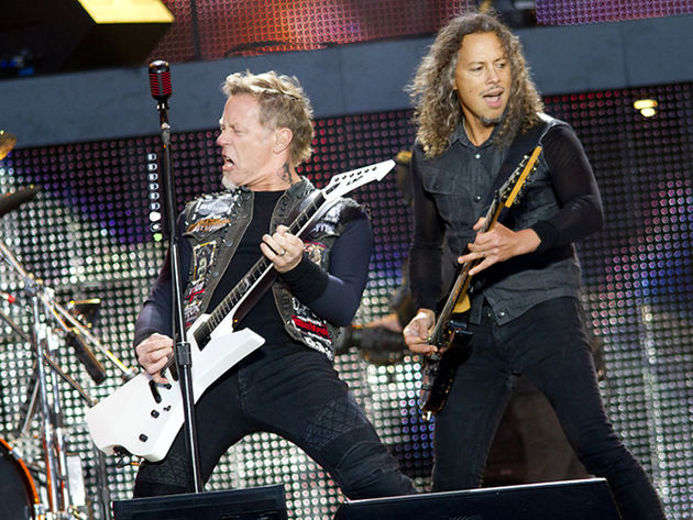 Metallica frontman James Hetfield and guitarist Kirk Hammett