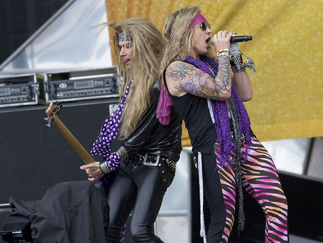 Steel Panther bassist Lexxi Foxx and frontman Michael Starr