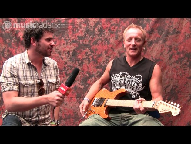 TG's Nick Cracknell and Def Leppard's Phil Collen