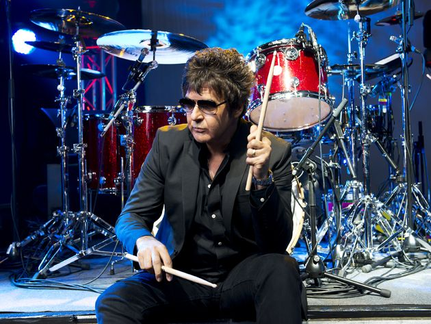 Clem Burke's drum set-up in pictures