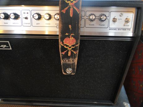 Earl Slick personalized guitar strap