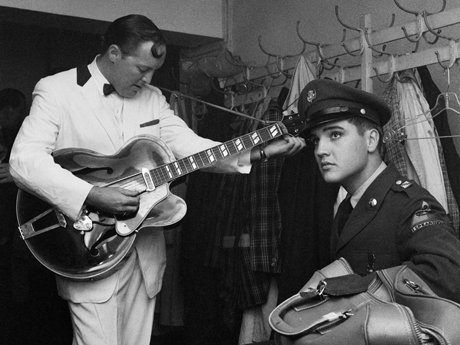 Bill haley tuning guitar