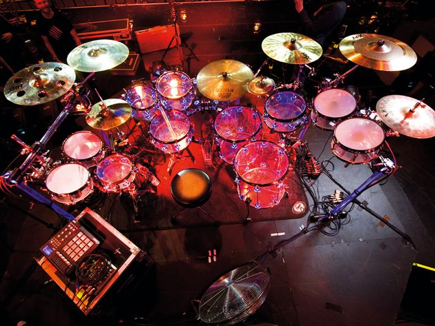 John Jenkins' Example drum setup in pictures