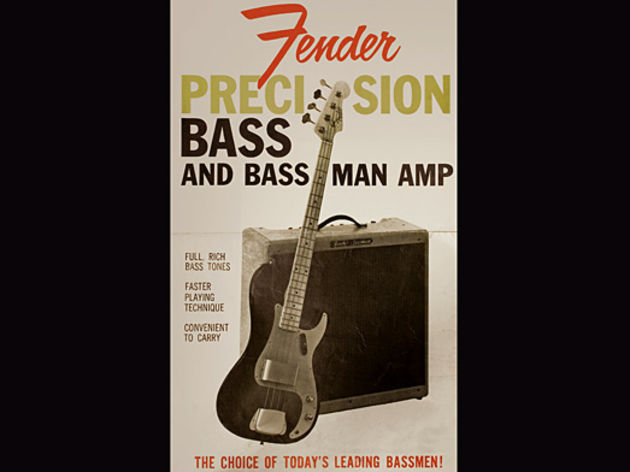 Late 1950s Precision Bass and Bassman advert