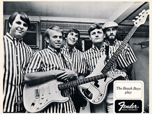 1960s The Beach Boys Play Fender postcard