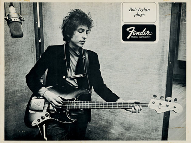 Mid 1960s Bob Dylan Plays Fender postcard