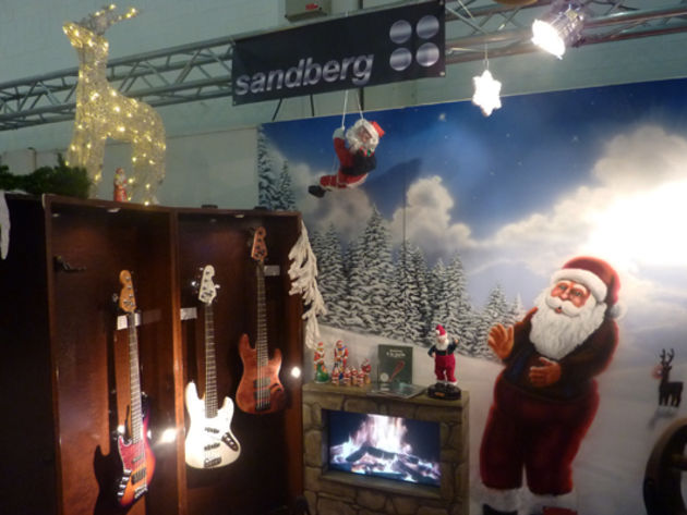 It's always Christmas on the Sandberg stand...