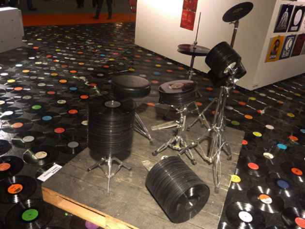 Vinyl record drum kit