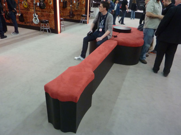 Guitar-shaped sofa