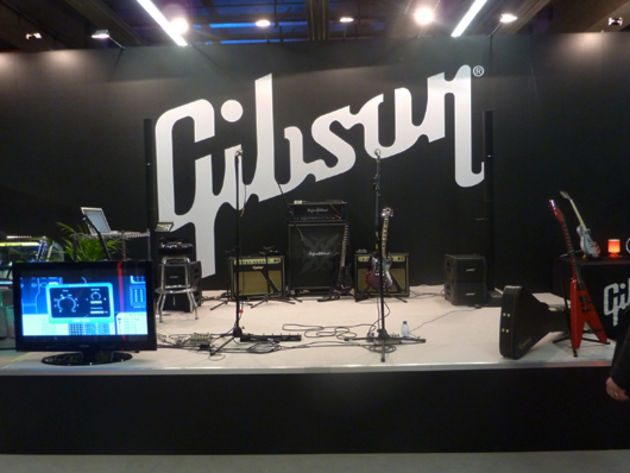 The (empty) Gibson artist stage