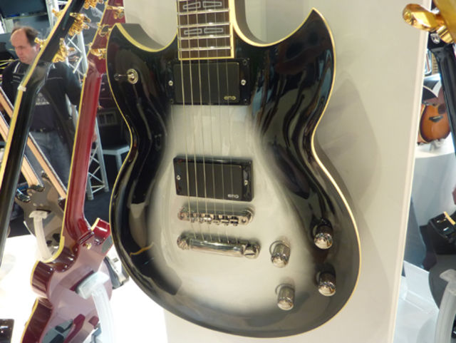 EMG-loaded Yamaha SG1820A in silver burst