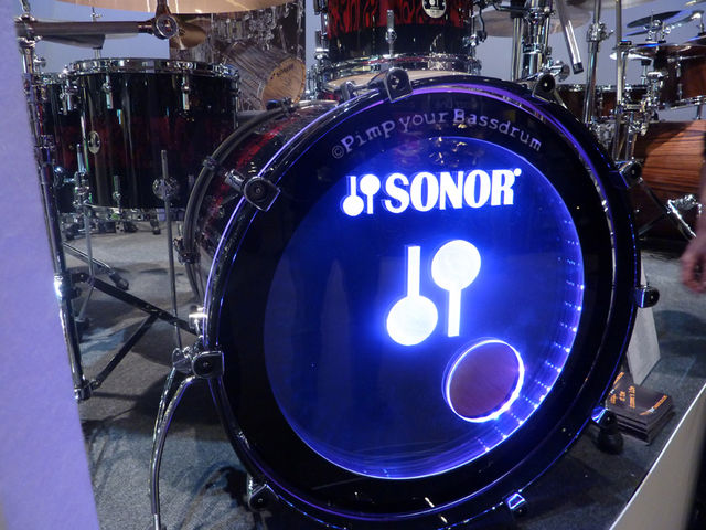 The light-up bass drum