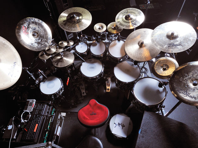 Le kit de Gavin Harrison du groupe Porcupine Tree
