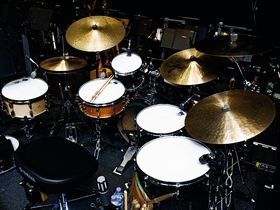 Mark Mclean and Lea Mullen's George Michael drum and percussion setup in pictures