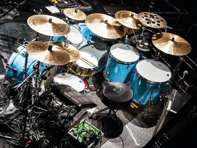 Karl Brazil's Girls Aloud drum setup in pictures