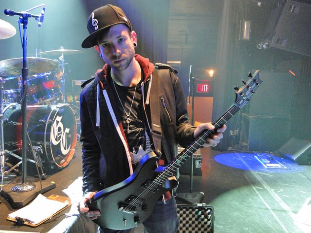 Good Charlotte's Billy Martin with his signature PRS model