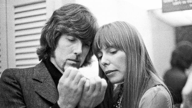 Graham Nash with Joni Mitchell, backstage at Carnegie Hall, 1969
