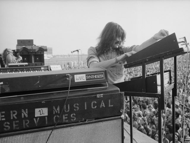 Jon Lord: now that's a stack of keyboards.