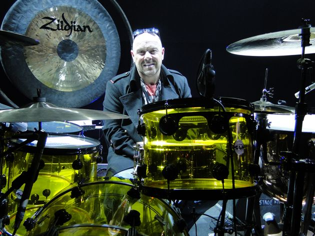 Hey, you'd be smiling too if you could play like Jason Bonham...on a set this beautious!