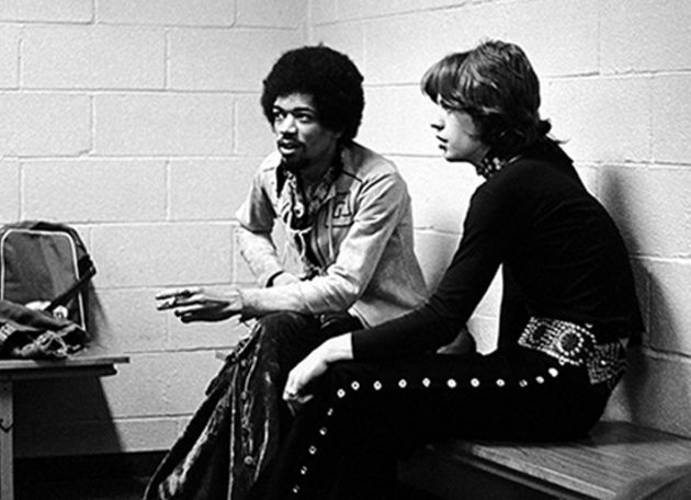 Jimi and Mick chillin' backstage