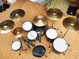 Luke Johnson's Lostprophets drum setup in pictures