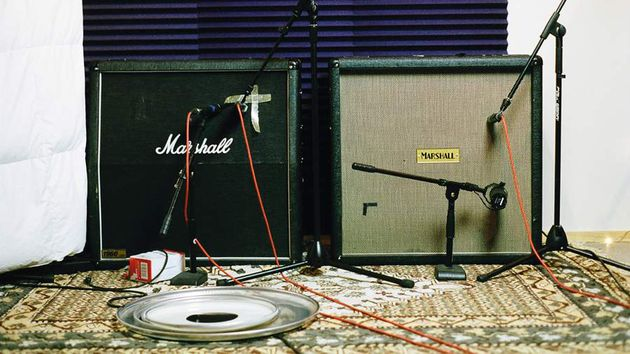 Marshall JCM800s and 900s were the order of the day in the studio