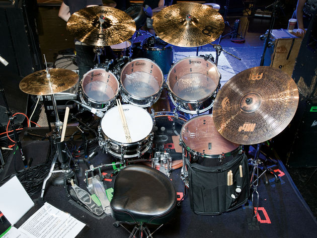 Brann Dailor's Mastodon drum setup