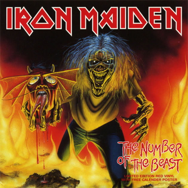 Iron Maiden Number Of The Beast Single Iron Maiden: a gruesom...