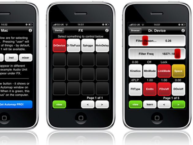 Novation Automap for iPhone