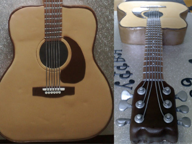 Acoustic Guitar Cake Images : 12 exceedingly good musical instrument cakes Acoustic ...