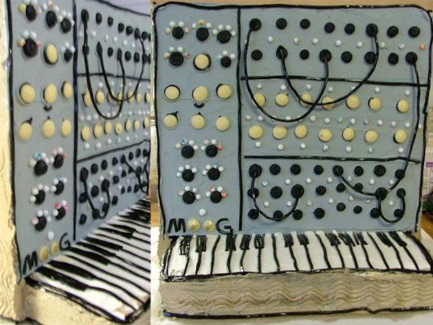 Moog modular synth cake