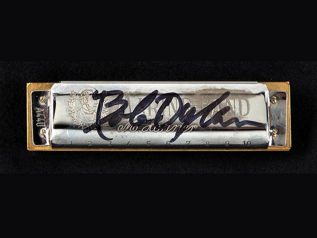 Bob Dylan signed harmonica