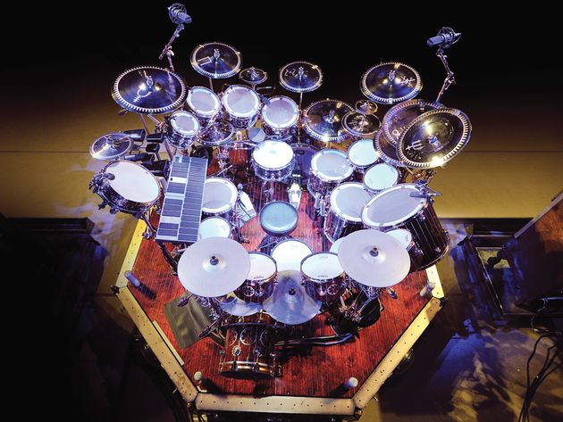 Neil Peart's Time Machine drum setup