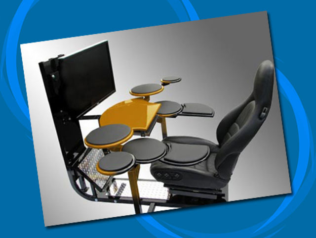 Computer desk drums