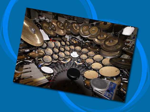 Terry Bozzio's drum set