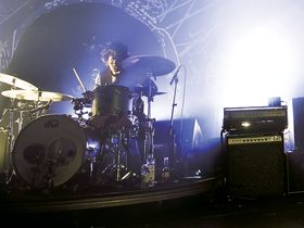 Joey Castillo's Queens Of The Stone Age drum setup in pictures