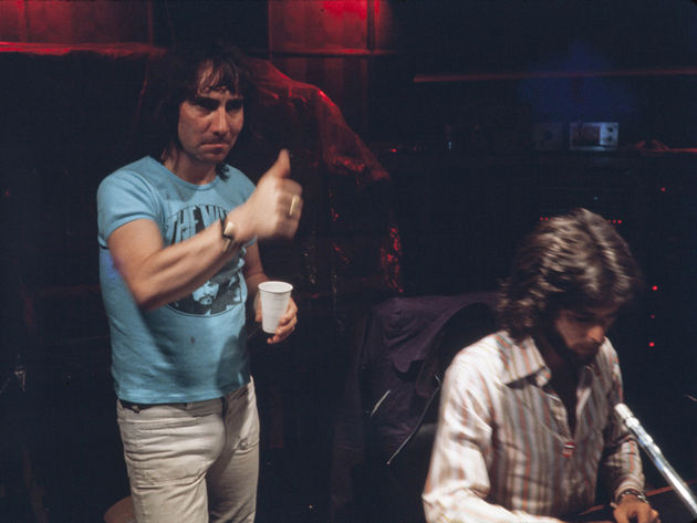 """Keith giving the thumbs-up to one of Roger's amazing vocal performances."""
