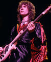 Onstage in 1977. Yes, that is a cape