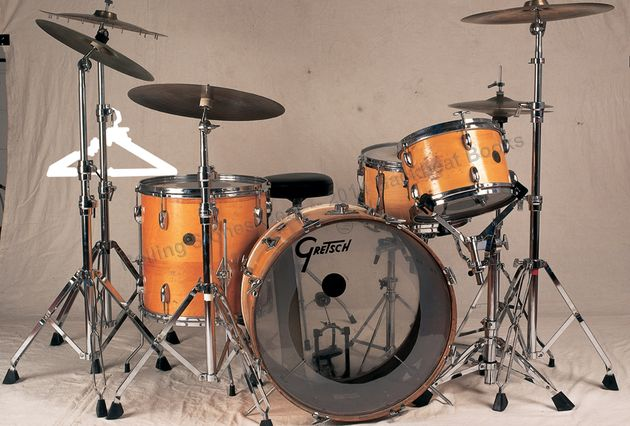 "Charlie Watts: 1957 Gretsch ""round badge"" drum set"